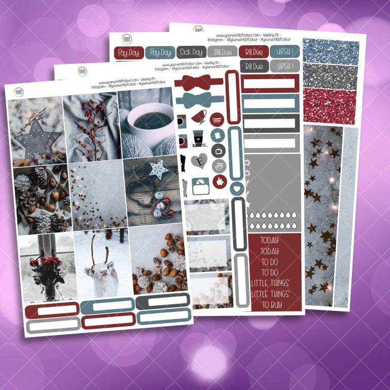 Festive Winter Weekly Kit 4 PAGE KIT