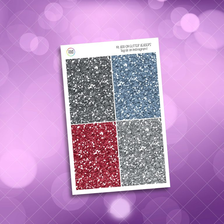 Festive Winter Weekly Kit GLITTER HEADERS