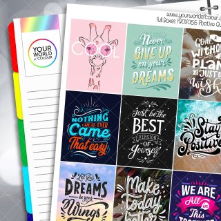 Positive Quotes Full Box Planner Stickers - Version Ten