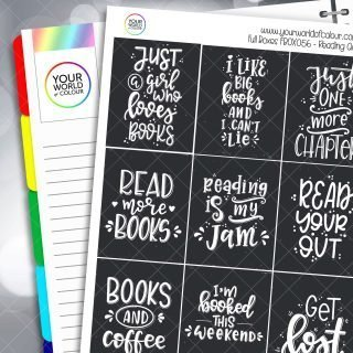 Reading Quotes Full Box Planner Stickers