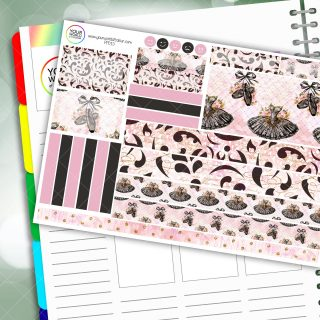 Black Swan Passion Planner Daily Sticker Kit