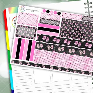 Polkadot Bow Passion Planner Daily Sticker Kit