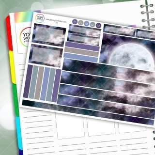 Aurora Moon Passion Planner Daily Sticker Kit