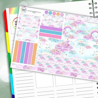 Candy Rainbow Passion Planner Daily Sticker Kit