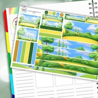 Park Life Passion Planner Daily Sticker Kit