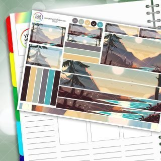 Mountain Stream Passion Planner Daily Sticker Kit