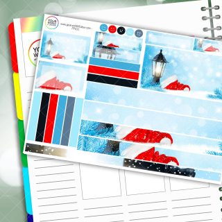 Christmas Lamp Passion Planner Daily Sticker Kit