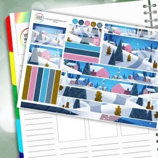 Winter Town Passion Planner Daily Sticker Kit