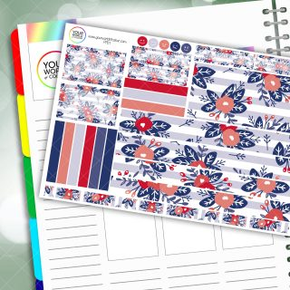 Patriotic Passion Planner Daily Sticker Kit