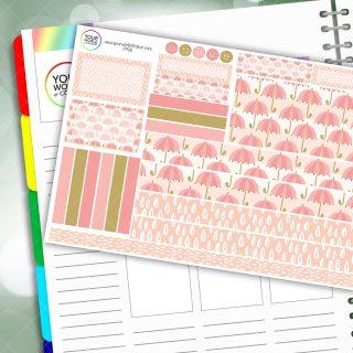 Rain Passion Planner Daily Sticker Kit