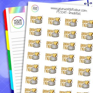 Breakfast Toast Planner Stickers