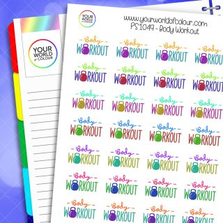 Body Workout Planner Stickers