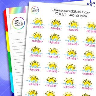 Hello Sunshine Planner Stickers