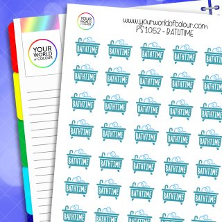 Bathtime Planner Stickers