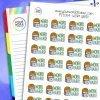 Work Hard Planner Stickers