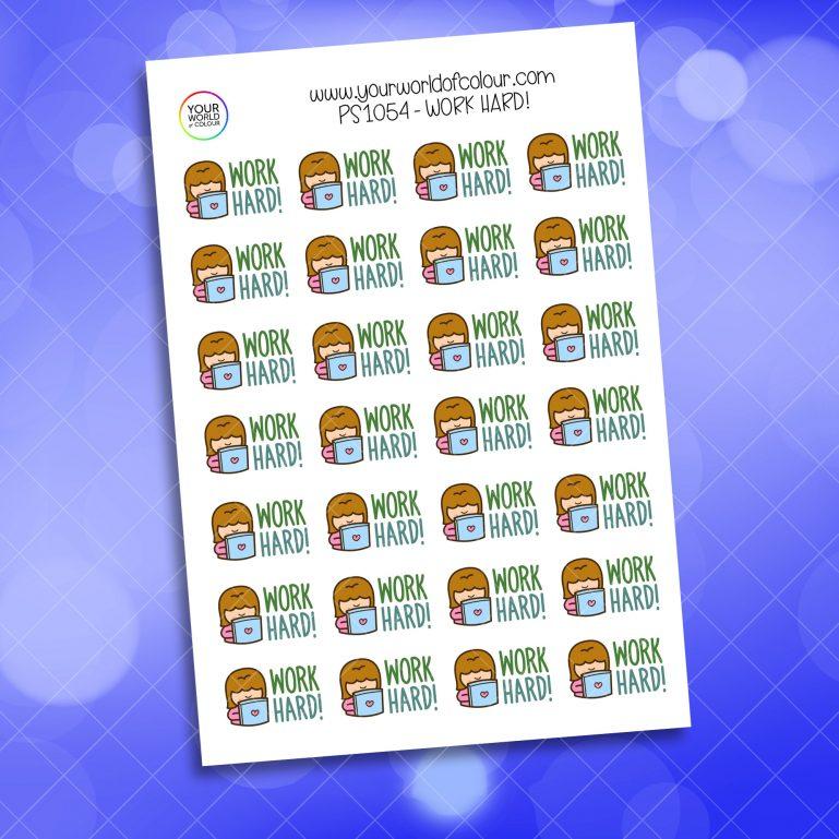 Work Hard Planner Sticker