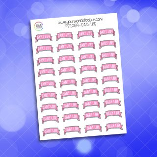 Daily Life Planner Sticker