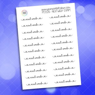 Next Week Script Planner Sticker