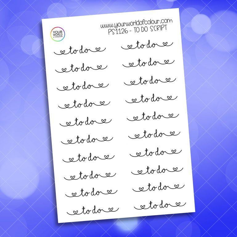To Do Script Planner Sticker