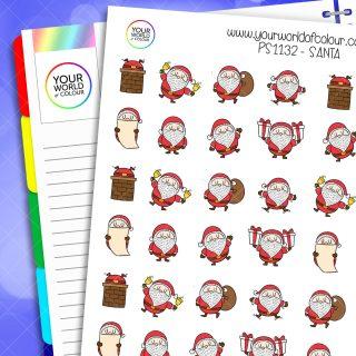 Santa Planner Stickers