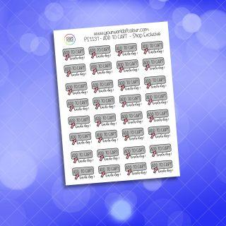 Add To Cart Planner Sticker