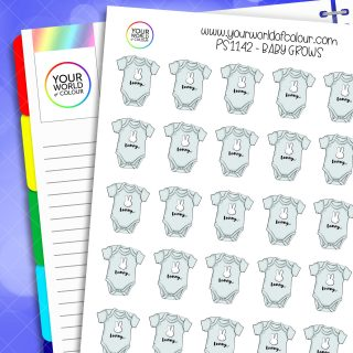 Baby Grows Planner Stickers