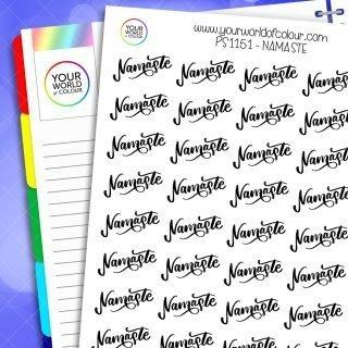 Namaste Script Planner Stickers