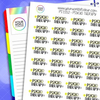 Psycho Therapy Planner Stickers