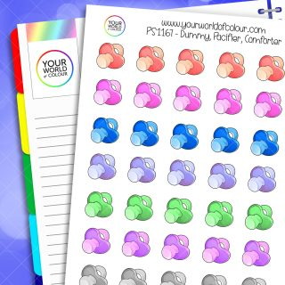 Dummy Pacifier Comforter Planner Stickers