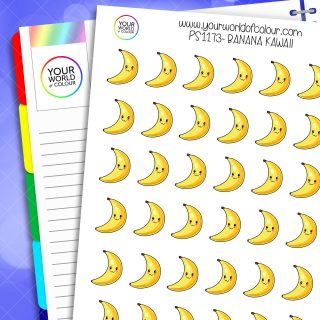 Banana Kawaii Planner Stickers