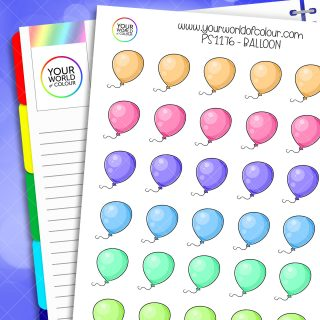 Balloon Planner Stickers