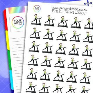 Treadmill Workout Planner Stickers