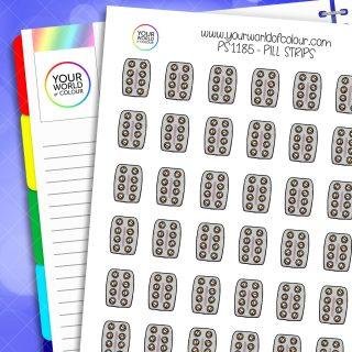 Pill Strips Planner Stickers