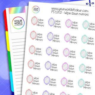 Wipe Down Mirrors Planner Stickers