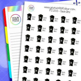 Clean Bins Planner Stickers
