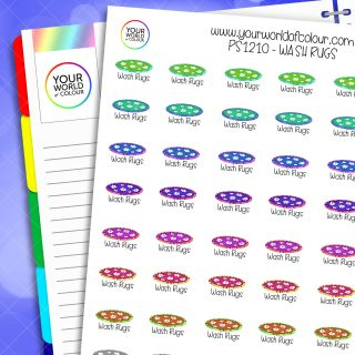 Wash Rugs Planner Stickers