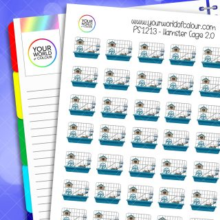 Hamster Cage Planner Stickers 2.0