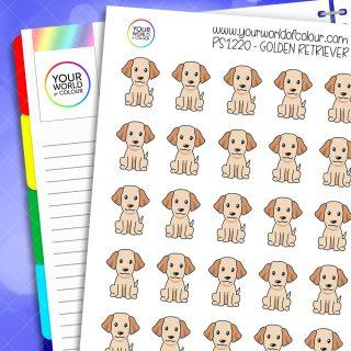 Golden Retriever Planner Stickers