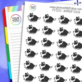 Border Collie Planner Stickers
