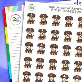 Rottweiler Planner Stickers 2.0