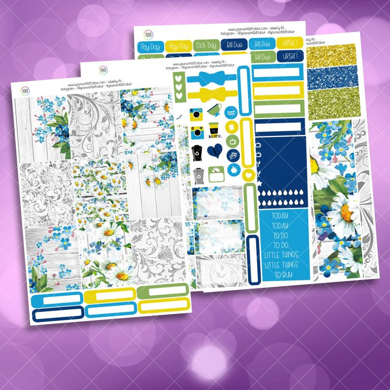 Spring Daisy Weekly Kit Full Kit