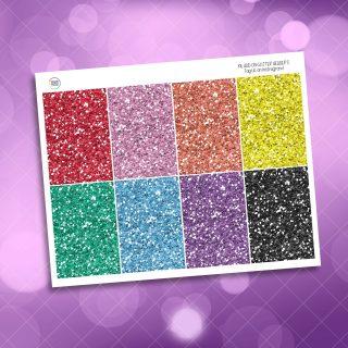 Rainbow Planner Girl Weekly Kit Glitter Headers