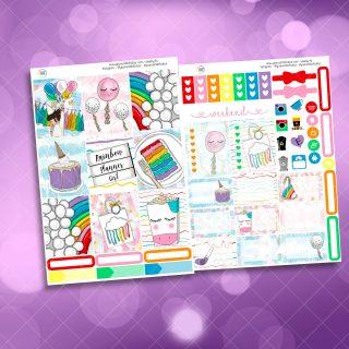 Rainbow Planner Girl Weekly Kit Mini Kit