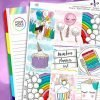 Rainbow Planner Girl Weekly Kit