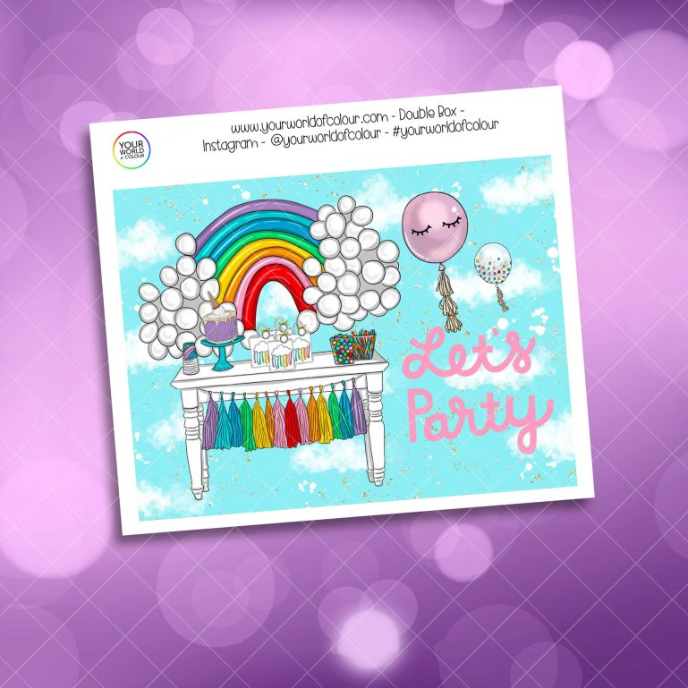 Rainbow Planner Girl Weekly Kit Double Box