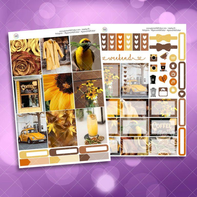 Hint Of Yellow Weekly Kit Mini Kit