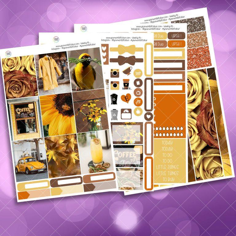 Hint Of Yellow Weekly Kit Full Kit