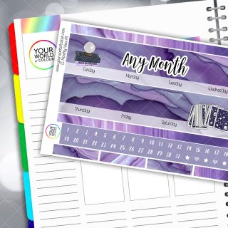Magic Monthly Planner Sticker Kit