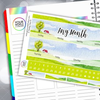 Spring Hill Monthly Planner Sticker Kit