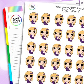 O.K. Daisy Character Stickers